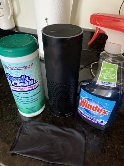 how to sanitize amazon echo