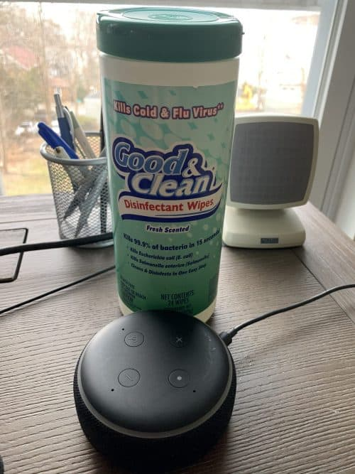 how to sanitize alexa speakers