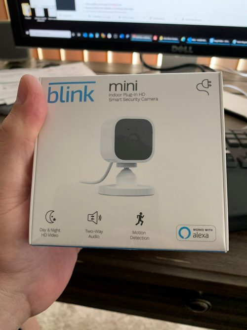 echo show cameras blink mini box
