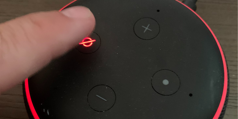why is my echo dot red